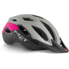 MET Crossover Bike Helmet grey/pink